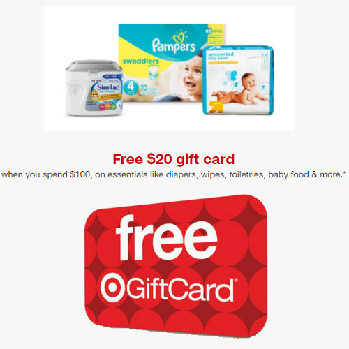 Target : Free $20 Gift Card with $100+ Baby items order