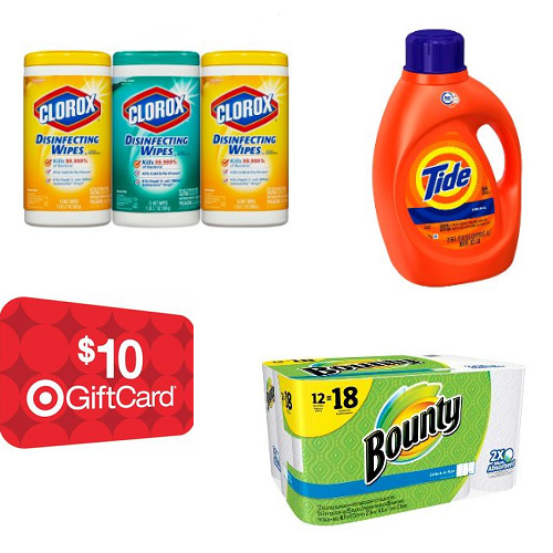 Target : Free $10 Gift Card with Cleaning Supplies or Paper Products order