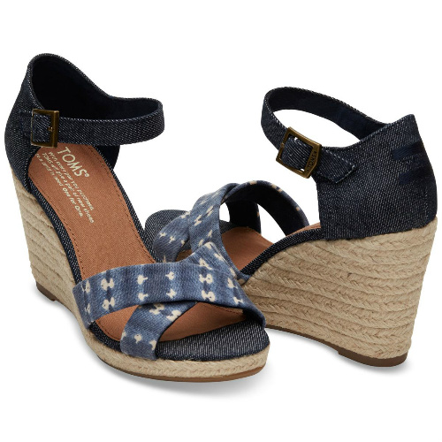 75% off TOM'S Sienna Wedge Sandals : $19.95 + Free S/H