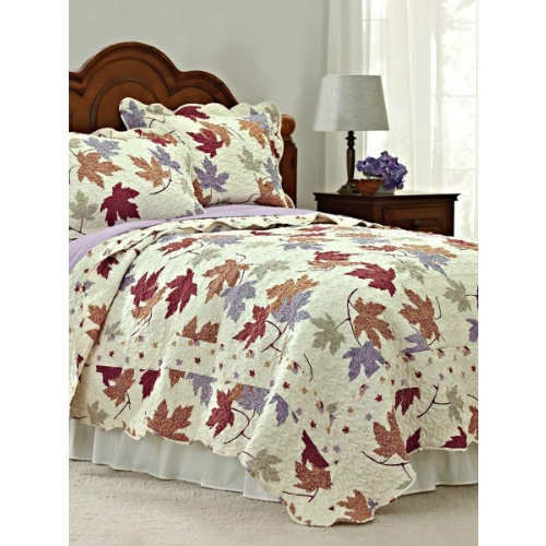 70% off Twin Autumn Leaf Quilt Set : $14.97 + Free S/H