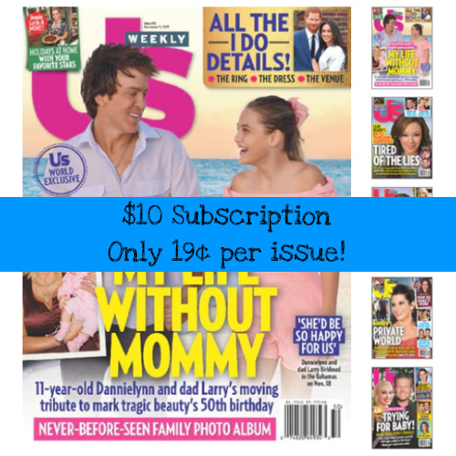 85% off US Weekly Subscription : Only $9.96