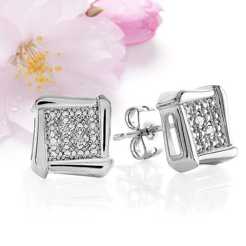 88% off Diamond Accent Earrings : $11.70 + Free S/H