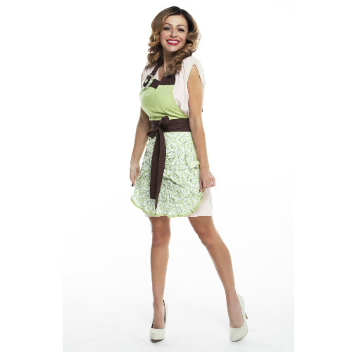 70% off Women's Elle Green Damask Apron : $8.75 + Free S/H