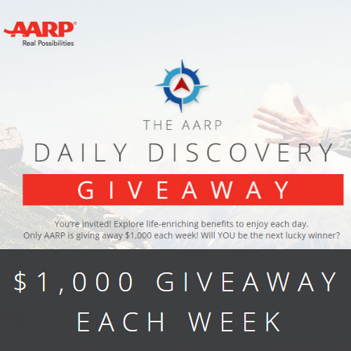 AARP Sweepstakes : $1,000 Giveaway
