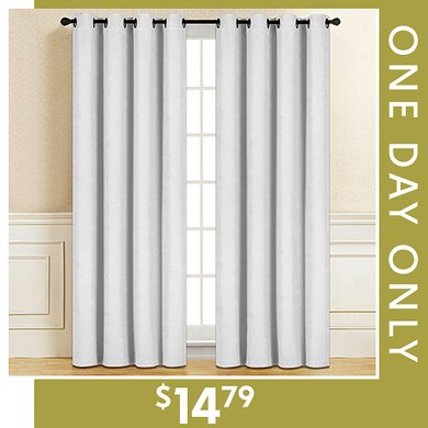 89% off Pair of Blackout Curtain Panels : Only $14.79
