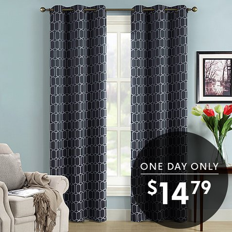 Up to 84% off Pair of Blackout Curtain Panels : Only $14.79