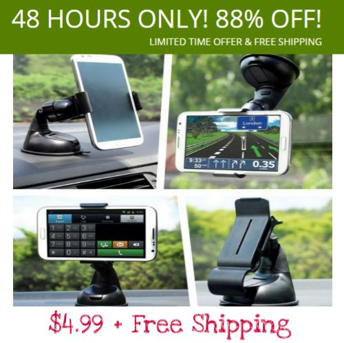 88% off Car Cell Phone Mount : $4.99 + Free S/H