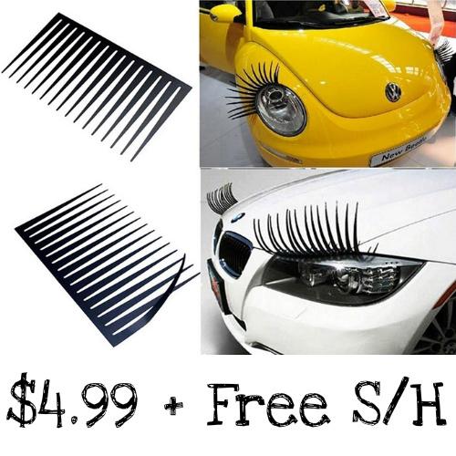 80% off Pair of Car Eyelashes : $4.99 + Free S/H