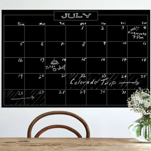 70% off Chalkboard Monthly Calendar : $8.97 + Free S/H