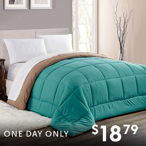 63% off Reversible Down Alternative Comforters : Only $18.79 any size