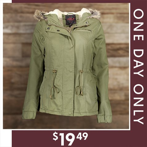 80% off Women's Faux Fur and Sherpa Lined Jackets : Only $19.49