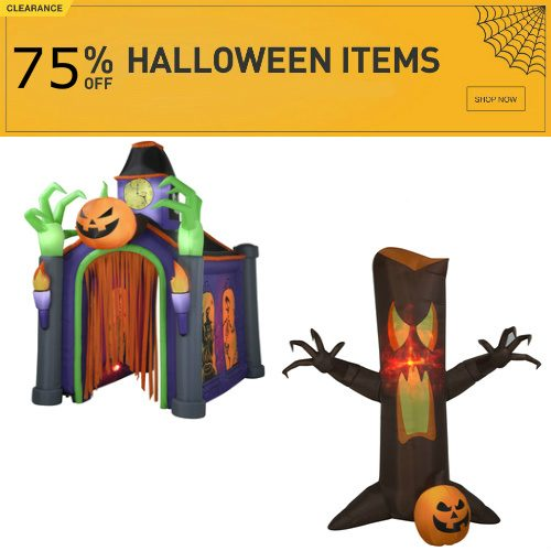 Halloween Decorations : 75% off Everything + Free S/H
