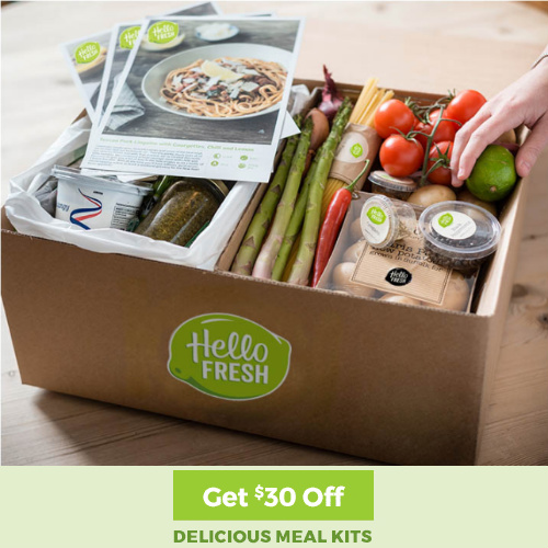 Hello Fresh : $30 off + Free S/H your first order