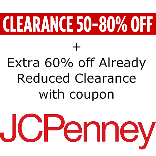 JCPenney : Extra 60% off Clearance items
