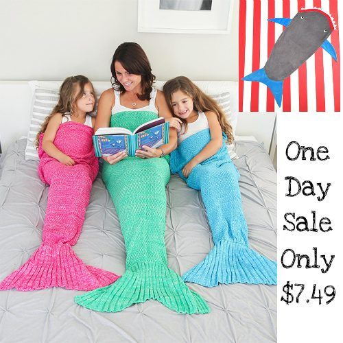 63% off Mermaid Tail and Shark Tail Blankets : Only $7.49