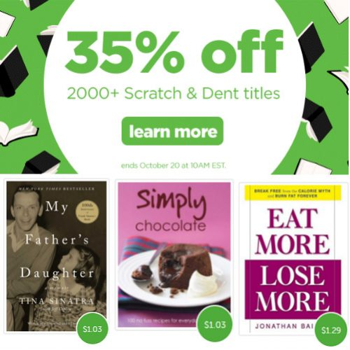 Scratch & Dent Books : Up to 97% off