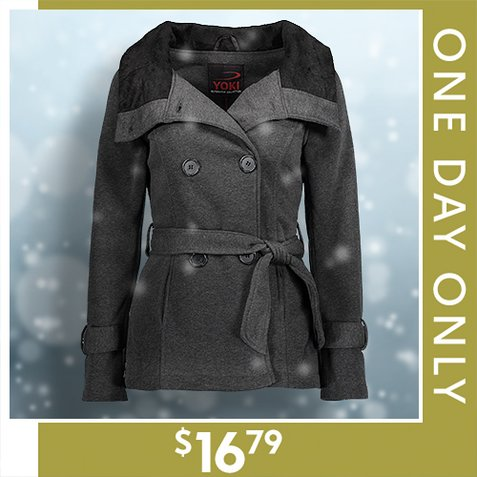 78% off Women's Sherpa-Lined Coats : Only $16.79