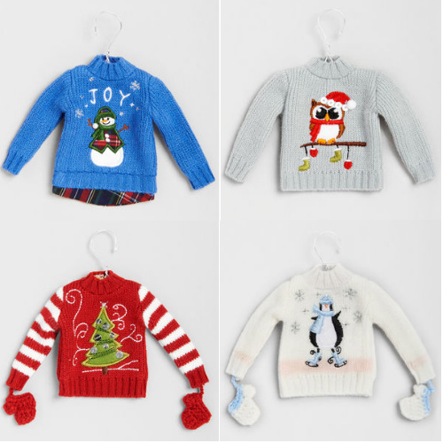$4 off Sweater Christmas Ornaments : 2 for $12 + Free S/H