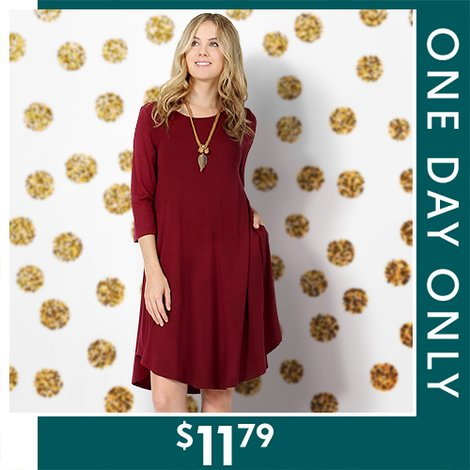 79% off Tunic Dresses : Only $11.79