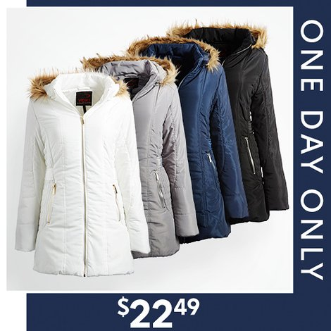 80% off Women's Faux Fur and Sherpa Lined Jackets : Only $22.49