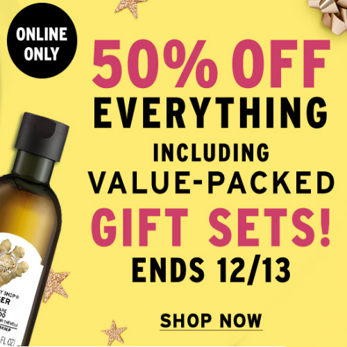 The Body Shop : Extra 50% off Everything + Free S/H