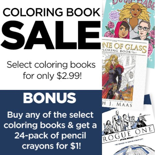 73-92% off Adult Coloring Books : $1.99-$2.99