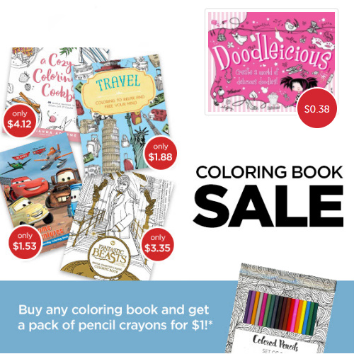Up to 92% off Adult & Kids Coloring Books : Prices start at 38¢