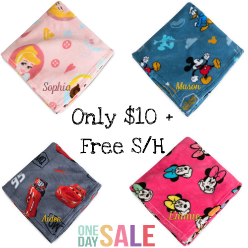 50% off Disney Fleece Throws : Only $10 + Free S/H