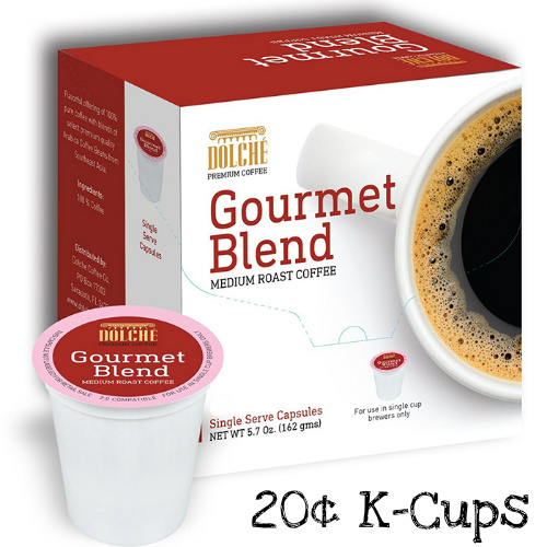 55% off 72-Count Dolche Coffee K-Cups : $14.49 + $1.99 Flat S/H