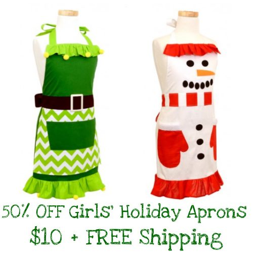 50% off Girls' Holiday Aprons : $9.97 + Free S/H