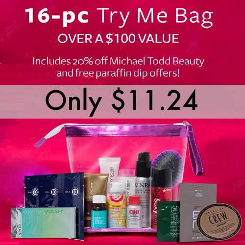 88% off 16-PC Hair Care Try Me Bag : Only $11.24