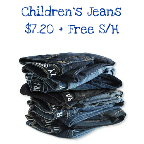 Up to 64% off Children's Jeans : Only $7.20 + Free S/H