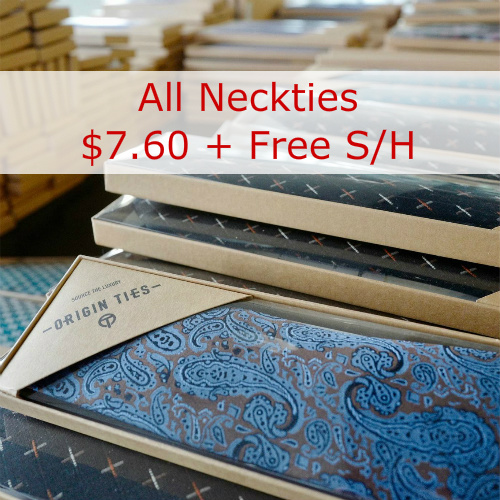 Up to 92% off Retail Men's Neckties : Only $7.60 + Free S/H