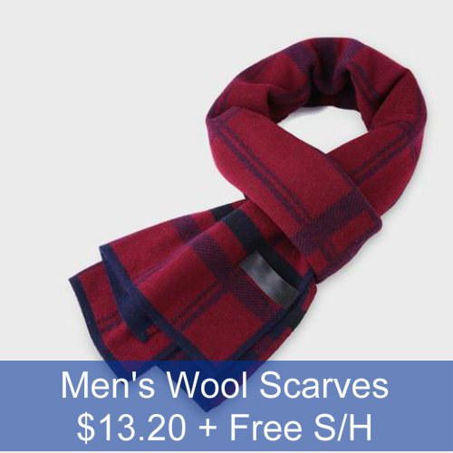 60% off Men's Wool Scarves : $13.20 + Free S/H