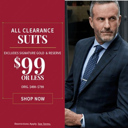 Up to 87% off Men's Suits : Only $99 + Free S/H