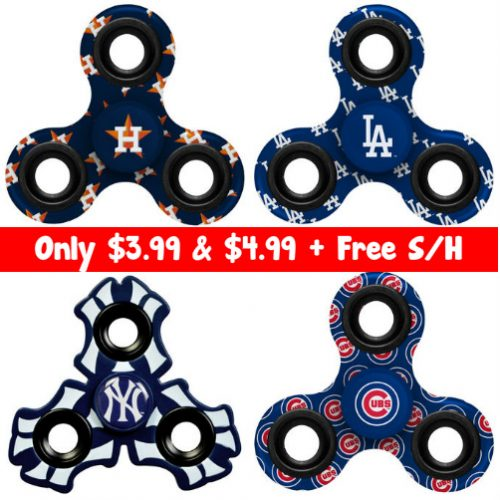 Up to 56% off MLB Fidget Spinners : $3.99 & $4.99 + Free S/H