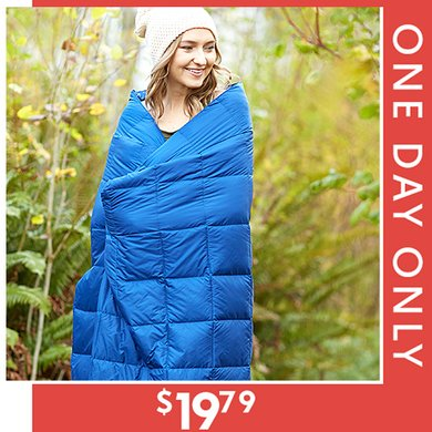 80% off Packable Down-Alternative Throws : Only $19.79