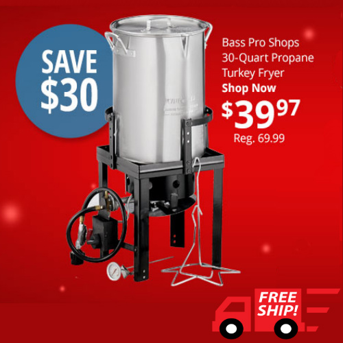 43% off 30-QT Propane Turkey Fryer : $39.97 + Free S/H