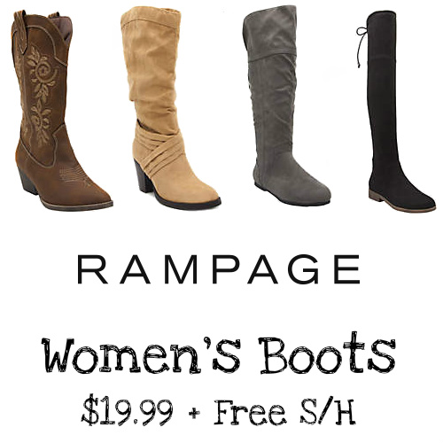 Up to 74% off Women's Rampage Boots : $19.99 + Free S/H