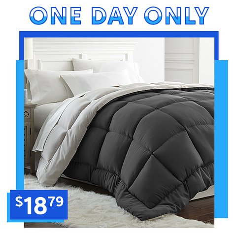 Up to 91% off Reversible Down Alternative Comforters : $18.79 any size