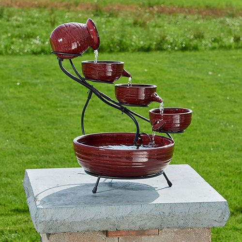80% off Solar Cascade Fountain : $33.01 + Free S/H