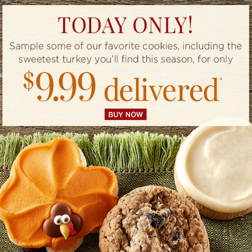 Thanksgiving Cookie Sampler : $9.99 + Free S/H