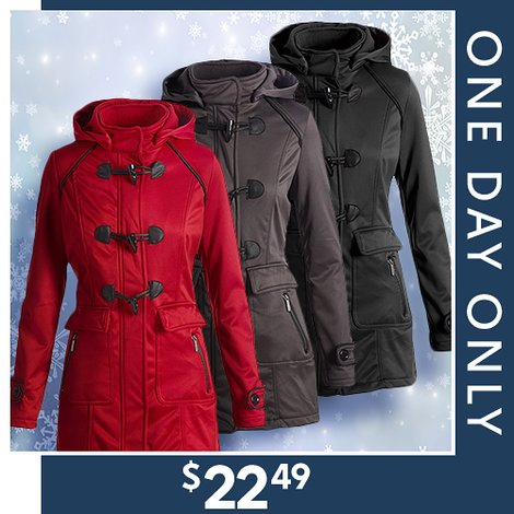 79% off Women's Toggle Coats : Only $22.49