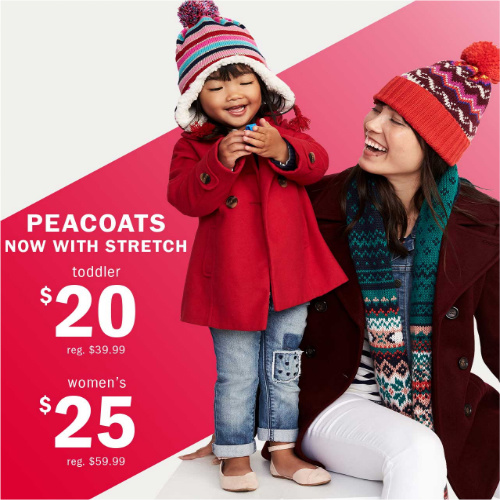 57% off Women's Old Navy Peacoats : Only $25