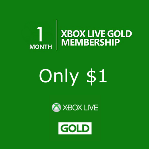 90% off 1-Month Xbox Live Gold Membership : Only $1