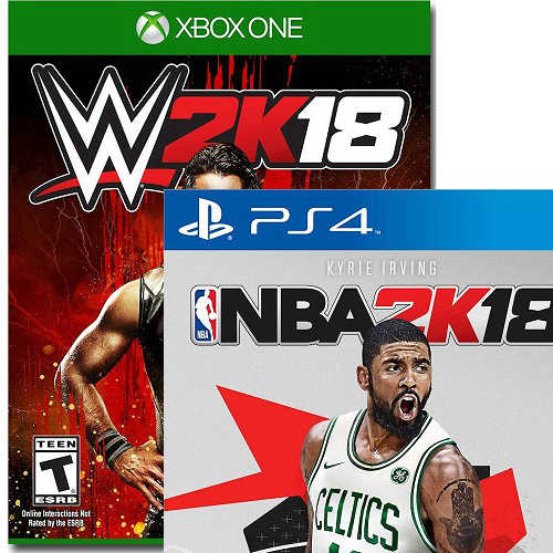 $20 off NBA 2K18 or WWE 2K18 : $39.99 + Free S/H