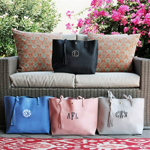 61% off Personalized Tassel Totes : Only $13.99
