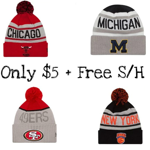 Up to 84% off New Era Beanies : $5 + Free S/H