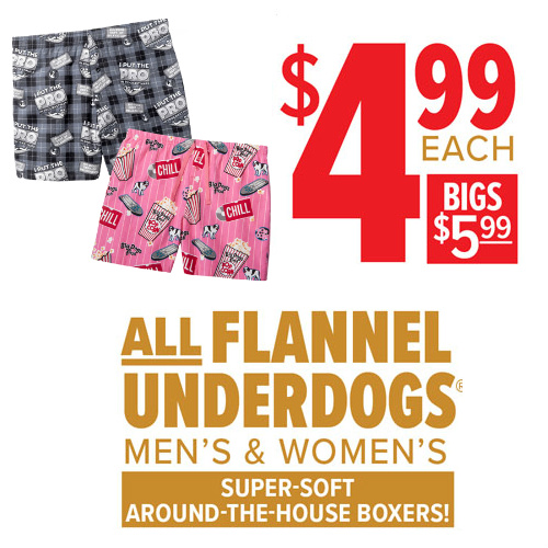 67% off Big Dogs Flannel Boxers : Only $4.99