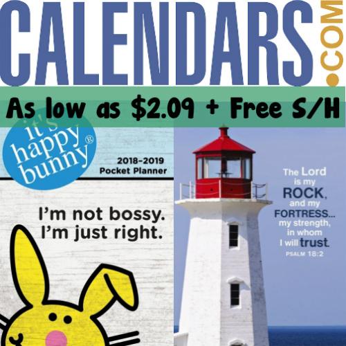 2018 Calendars : Starting at $2.09 + Free S/H